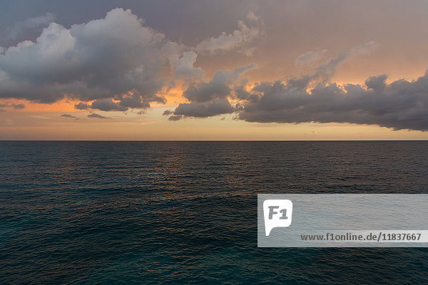 Tranquil seascape in sunset