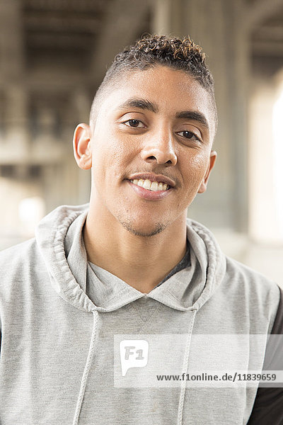 Portrait of smiling Mixed Race man
