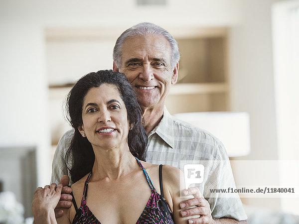 Portrait of smiling older couple