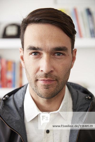 Portrait of serious Caucasian man