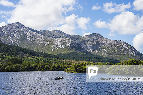 Lough Inagh in the Connemara National Park  County Galway  Connacht  Republic of Ireland  Europe