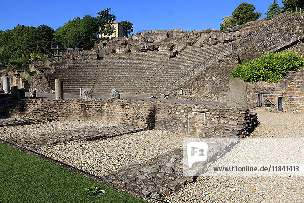 Ancient Theatre of Fourviere  Lyon  Rhone Valley  France  Europe