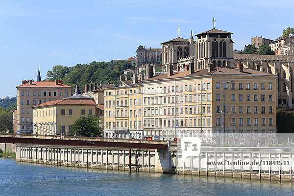 City of Lyon  Rhone Valley  France  Europe