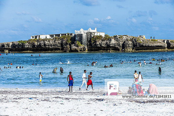 Little island across from Jazeera beach  Somalia  Africa
