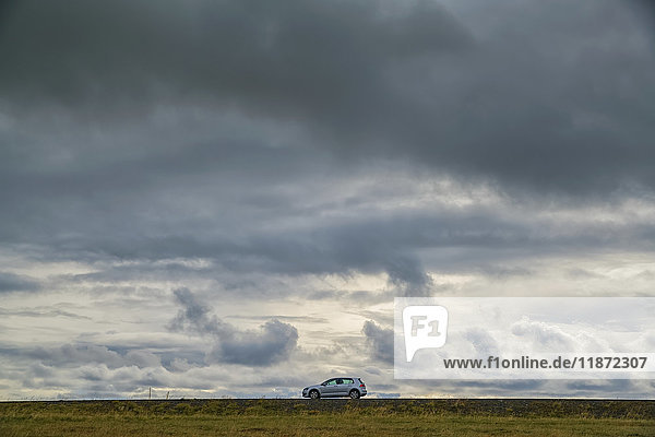 'Car driving along the highways of Iceland  Snaefellsness Peninsula; Iceland'