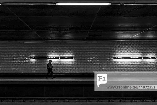 'Baixa-Chiado Metro station; Lisbon  Portugal'