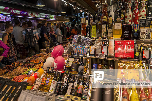 'Boqueria Market  one of the most famous markets around Spain and the most famous in Barcelona; Barcelona  Catalonia  Spain'