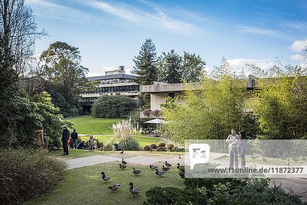 'Calouste Gulbenkian Museum building in Gulbenkian Park; Lisbon  Portugal'