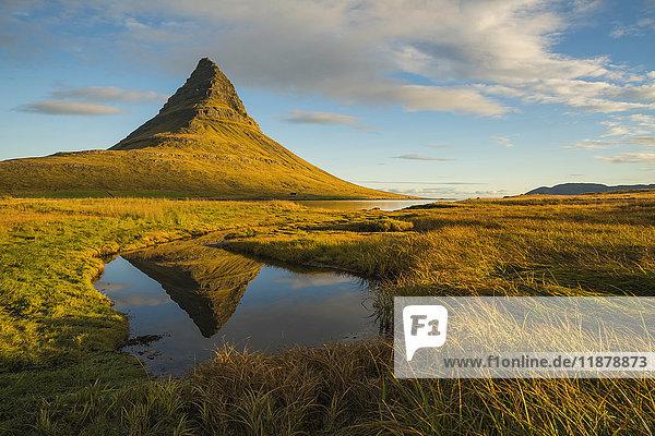 'Sunrise over Kirkjufell  Snaefellsness Peninsula; Iceland'