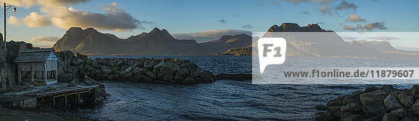 'The old pier in Gjojur  a tiny fishing village along the Strandir Coast; West Fjords  Iceland'