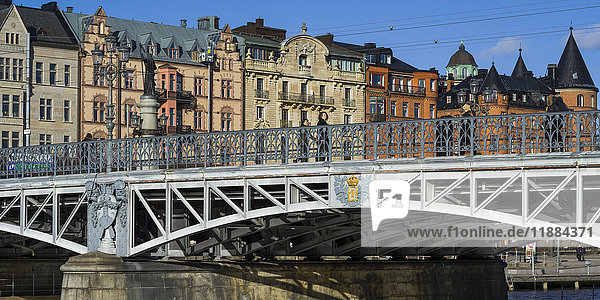 'Djurgarden Bridge at the island of Djurgarden; Stockholm  Sweden'