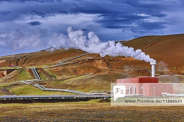 Krafla  Geothermalkraftwerk  Reykjahlíð  Mývatni  Island  Europa