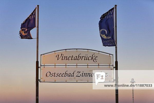 Vinetabrücke  Ostseebad Zinnowitz  Zinnowitz  Mecklenburg-Vorpommern  Deutschland  Europa
