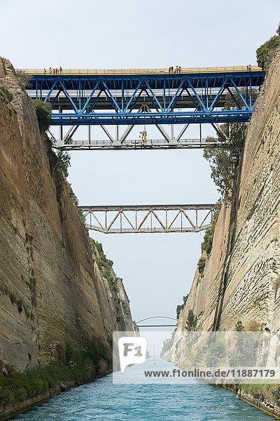 Kanal von Korinth  Peloponnes  Griechenland  Europa