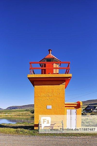 Leuchtturm  Svalbarðseyri  Island  Europa