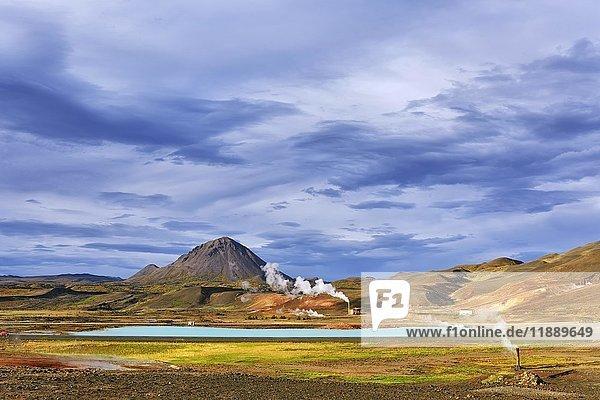 Geothermalkraftwerk  Reykjahlíð  Mývatni  Island  Europa