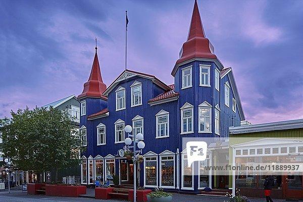 Das Blaue Café  Bláa kannan café  Akureyri  Island  Europa