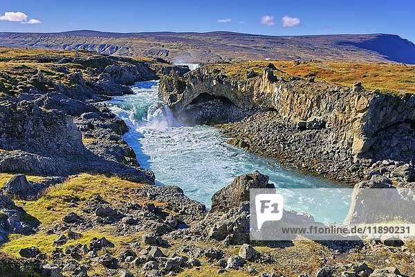 Waterfall Godafoss  Laugar  Fosshólli  Iceland  Europe
