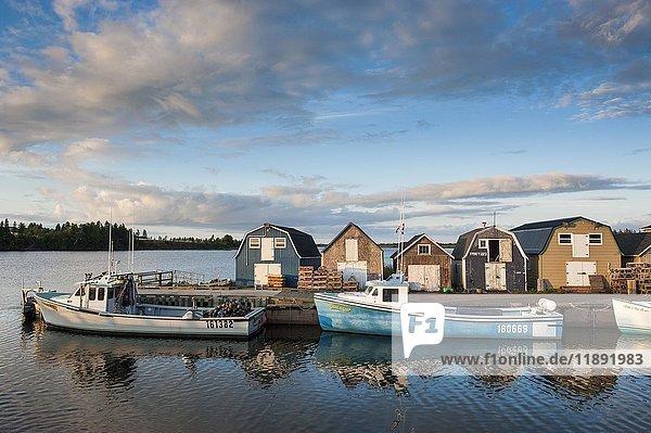 Kleine Fischerboote im Stanley Bridge Hafen  Prince Edward Island  Kanada  Nordamerika