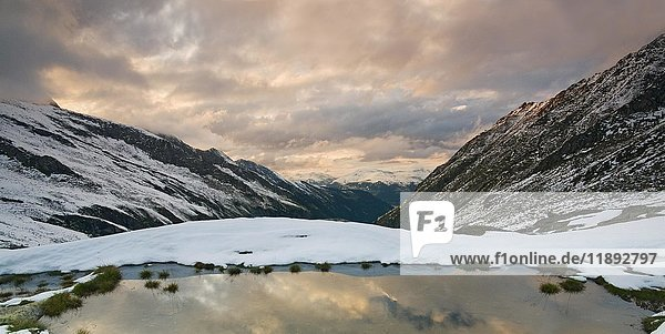 Blick in das Wildgerlostal  Zillertal  Tirol  Österreich  Europa