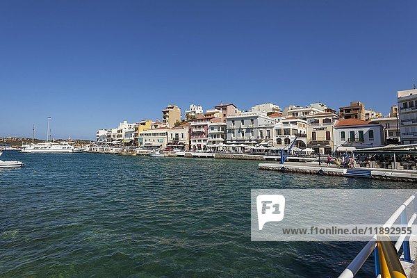 Voulismeni-See in Agios Nikolaos  Kreta  Griechenland  Europa