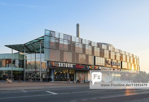 Einkaufszentrum Erlangen Arcaden  Erlangen  Mittelfranken  Franken  Bayern  Deutschland  Europa