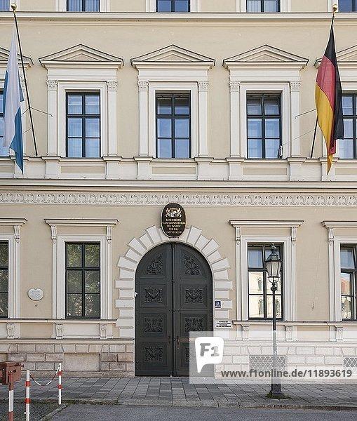 Eingang Bayerisches Staatsministerium des Innern für Bau und Verkehr  München  Oberbayern  Bayern  Deutschland  Europa