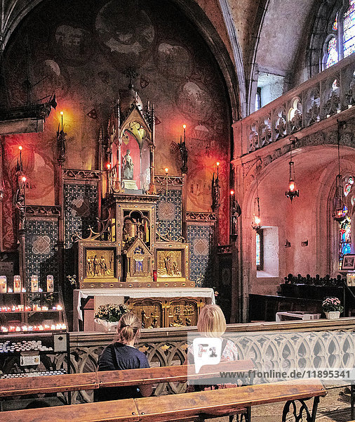 Europe  France  Occitanie  Lot  Rocamadour  the religious city  the Blessed Virgin Mary chapel