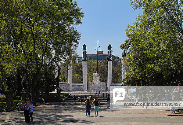 America  Mexico  Mexico City  Chapultepec district  Chapultepec park and fortress  los ninos heroes monument for the Mexican-American war 1847