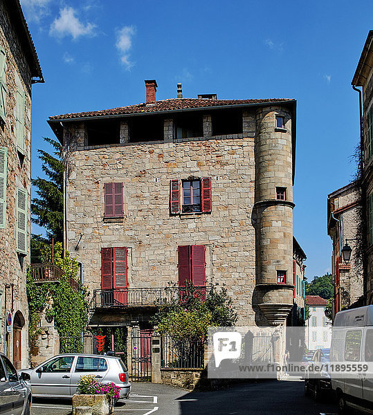 France  Lot  Figeac  the town on the Cele river