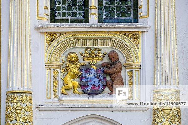 Wappen der Stadt Brügge  Brügge  Flandern  Belgien  Europa