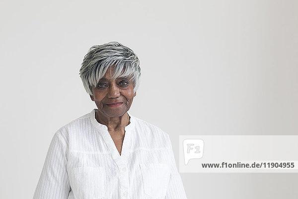 Portrait of older smiling Black woman