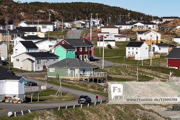 Town of Crow Head  Twillingate  Newfoundland  Canada.