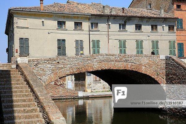 Comacchio  Po river  Delta Regional Park  Emilia Romagna  Italy.