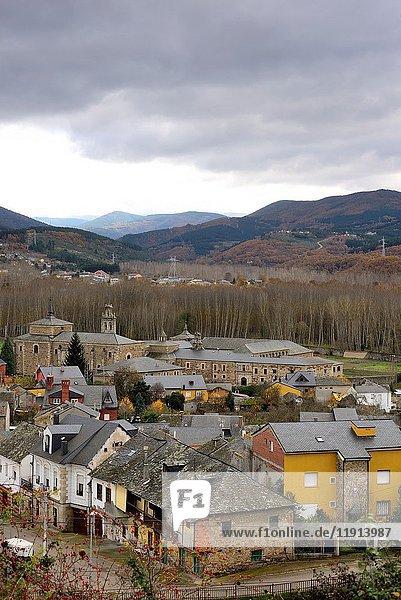 General view of San Miguel de las Dueñas  Leon  Spain