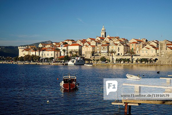 Croatia  Dalmatia  Korcula island  Korcula town