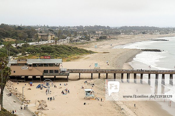 Ventura Pier Beach  Ventura  California  United States  North America.