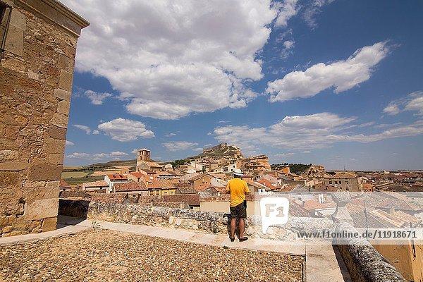 Our Lady of Rivero church in San Esteban de Gormaz village Soria province Castile Leon Spain on June 11  2017.