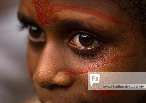 Portrait of a Small Nambas child girl  Malekula island  Gortiengser  Vanuatu.