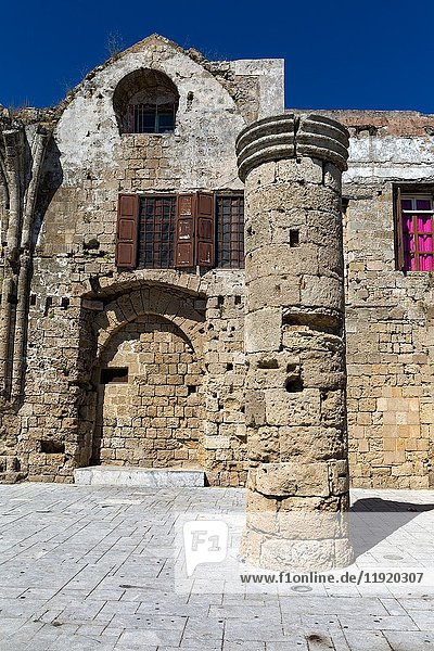 The remains of 'Panagia tou Bourgou' ('Our Lady of the Burgh') church in the Medieval town of Rhodes island  Greece.