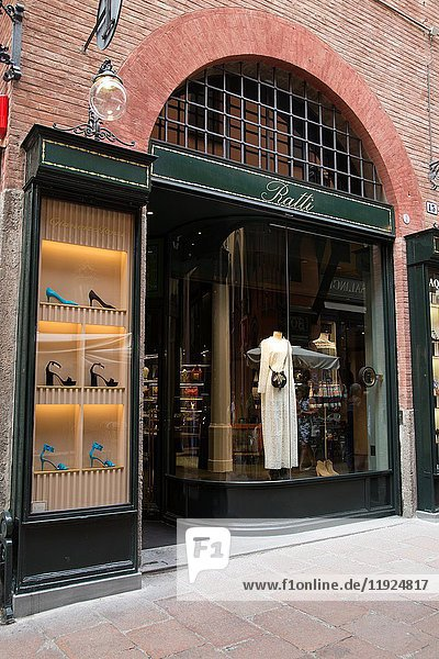 Ratti Clothes Shop  Clavature Street  Bologna  Italy.