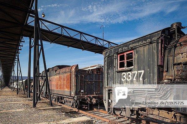 USA  Pennsylvania  Scranton  Steamtown National Historic Site  steam-era locomotive.