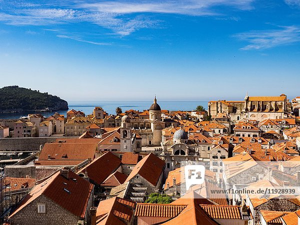 Dubrovnik Croatia View of Old Town from Medieval Wall.