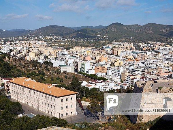 Eivissa from Dalt Villa walls. Islas Baleares. Spain.