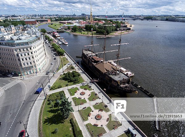 The monument of history The Peter and Paul Fortress from a bird's-eye view. Saint Petersburg. Russia..