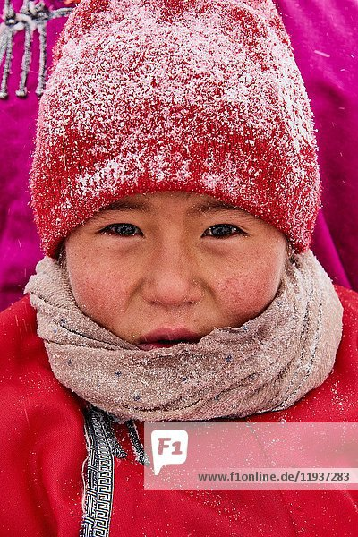 Mongolia  Khovsgol province  the Tsaatan  reindeer herder  winter migration.