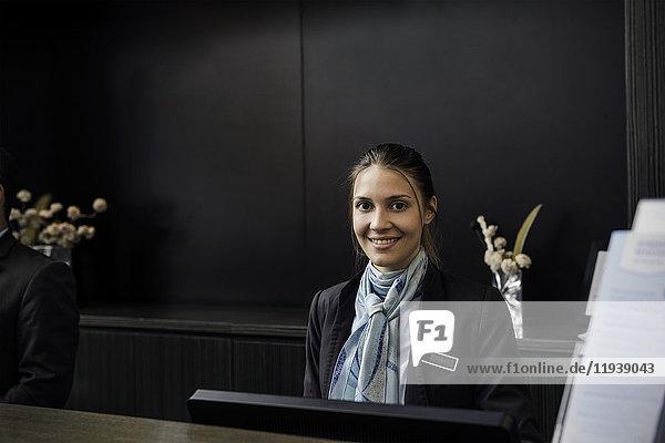 Hotelrezeptionistin  Portrait