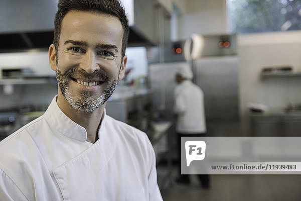 Koch in der Großküche,  Portrait