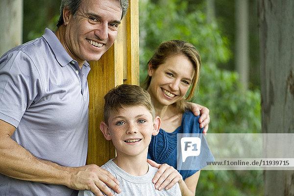 Familie mit einem Kind,  Portrait