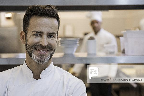 Koch in der Großküche  Portrait